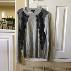 J Crew lace and wool sweater